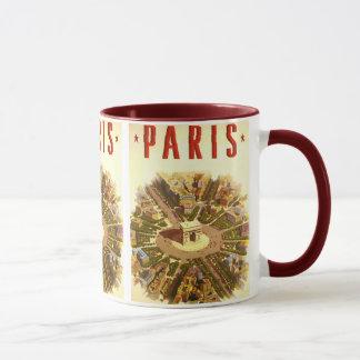 Vintage Travel, Arc de Triomphe Paris France Mug