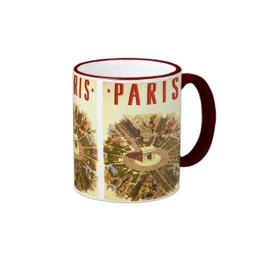 Vintage Travel, Arc de Triomphe Paris France Coffee Mug