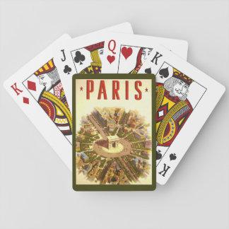 Vintage Travel, Arc de Triomphe Paris France Playing Cards