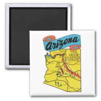 Vintage Travel Arizona AZ State Label Refrigerator Magnets