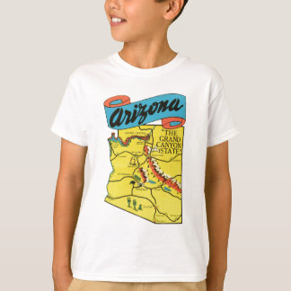 Vintage Travel Arizona AZ State Label T-Shirt