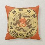 Vintage Travel Asia, Grand Hotel, Taipei, Taiwan Throw Pillows