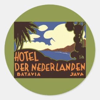Vintage Travel Asia, Jakarta Indonesia Classic Round Sticker