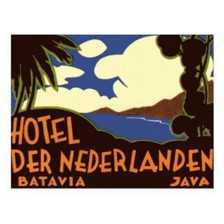 Vintage Travel Asia, Jakarta Indonesia Postcard