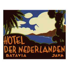 Vintage Travel Asia, Jakarta Indonesia Posters
