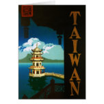 Vintage Travel Asia, Taiwan Pagoda Tiered Tower Cards