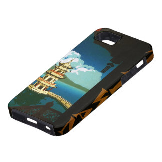Vintage Travel Asia, Taiwan Pagoda Tiered Tower iPhone SE/5/5s Case