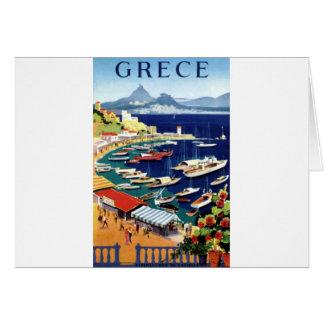 Vintage Travel Athens Greece Card
