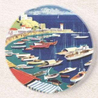 Vintage Travel Athens Greece Coaster