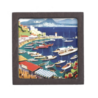 Vintage Travel Athens Greece Keepsake Box