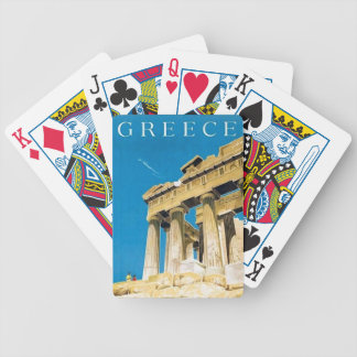 Vintage Travel Athens Greece Parthenon Temple Bicycle Playing Cards