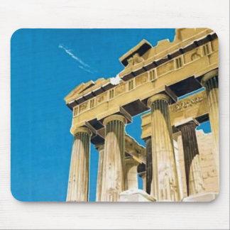 Vintage Travel Athens Greece Parthenon Temple Mouse Pad