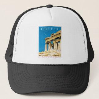 Vintage Travel Athens Greece Parthenon Temple Trucker Hat
