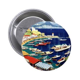 Vintage Travel Athens Greece Pinback Button