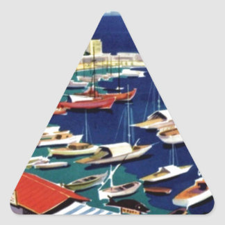 Vintage Travel Athens Greece Triangle Sticker
