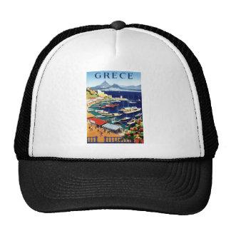 Vintage Travel Athens Greece Trucker Hat