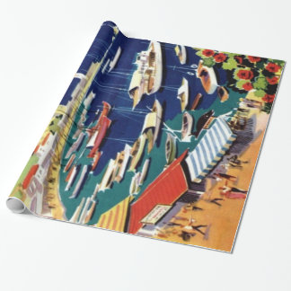 Vintage Travel Athens Greece Wrapping Paper