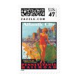 Vintage Travel Atlantic City,New Jersey Stamp