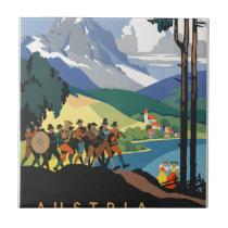 Vintage Travel Austria Ceramic Tile