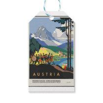 Vintage Travel Austria Gift Tags