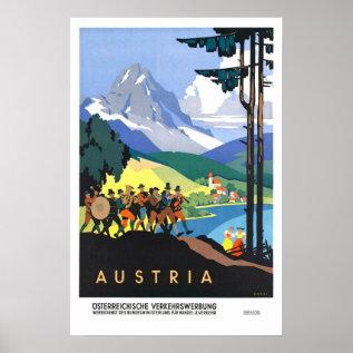 Vintage Travel,austria Poster at Zazzle