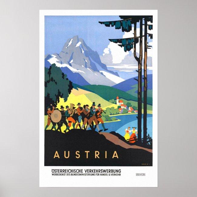 Vintage travel,Austria