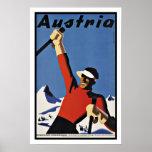 Vintage Travel Austria Ski Poster