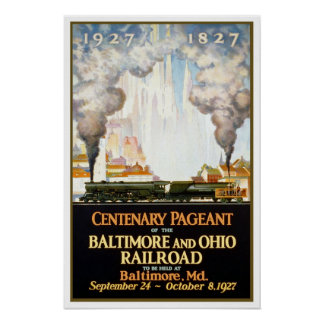 Vintage travel,Baltimore and Ohio Poster