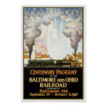Vintage travel,Baltimore and Ohio Print