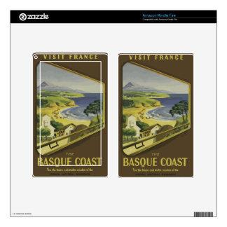 Vintage Travel Basque Coast France Decal For Kindle Fire