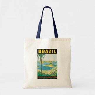 Vintage Travel Beach Coast, Rio de Janeiro Brazil Tote Bag