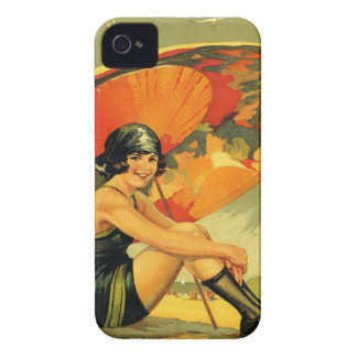 Vintage Travel Beach Poster iPhone covers