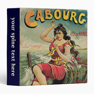 Vintage Travel, Beach Resort, Cabourg France 3 Ring Binders