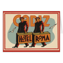 Vintage Travel Bellhops Hotel Roma, Cadiz, Spain