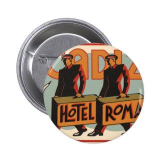 Vintage Travel Bellhops Hotel Roma, Cadiz, Spain Button