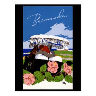 Vintage Travel Bermuda 1940s Postcard