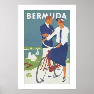 Vintage Travel Bermuda Poster Print
