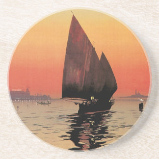 Vintage Travel, Boats at Excelsior Palace Venice Coaster