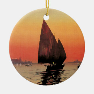Vintage Travel Boats at Excelsior Palace Venice Christmas Ornaments