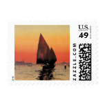 Vintage Travel, Boats at Excelsior Palace Venice Postage Stamp