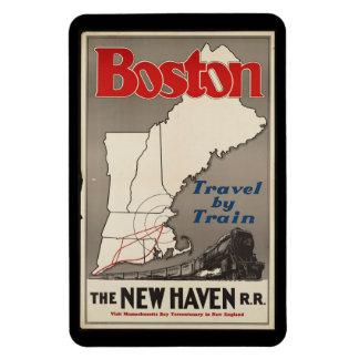 Vintage Travel Boston New Haven Railroad Train Magnet