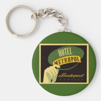 Vintage Travel Budapest Hungary Bellhop Hat Keychain