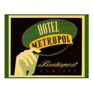 Vintage Travel Budapest Hungary Bellhop Hat Postcard