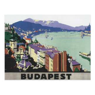 Vintage Travel Budapest Hungary Postcard