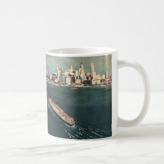 Vintage Travel by Cruise Ship to New York City Coffee Mug