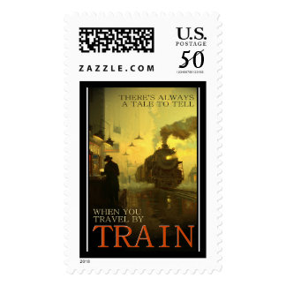 Vintage Travel By Train Postage