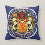 Vintage Travel Caledonian Hotel Edinburgh Scotland Throw Pillows