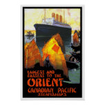 Vintage travel,Canadian Paciffic Cruise Poster