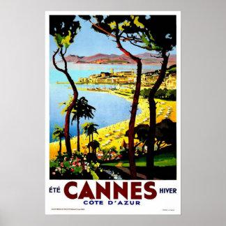 Vintage travel Cannes Poster