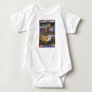 Vintage Travel, Cape Town, a City in South Africa Baby Bodysuit